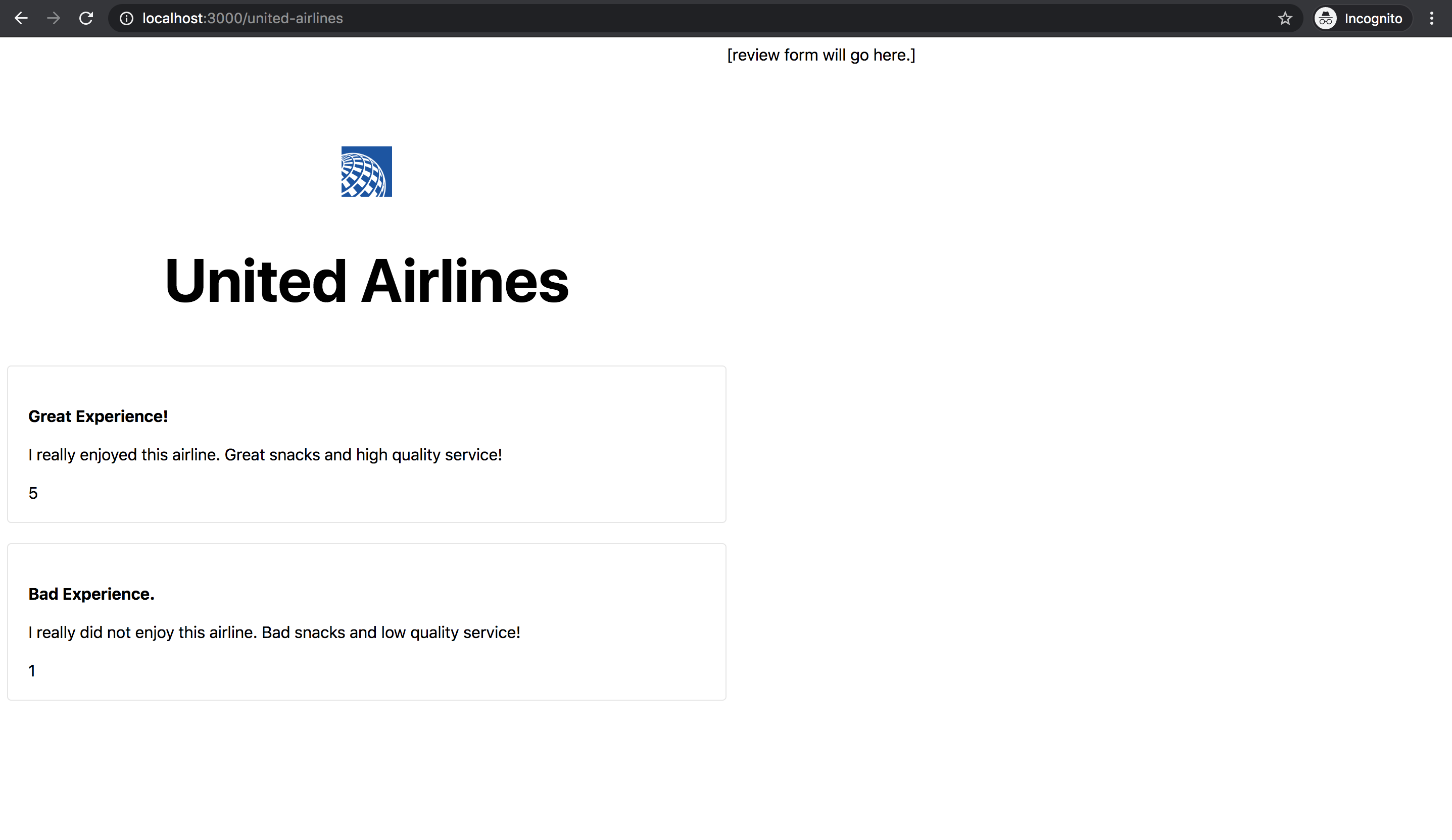 Airline With Reviews