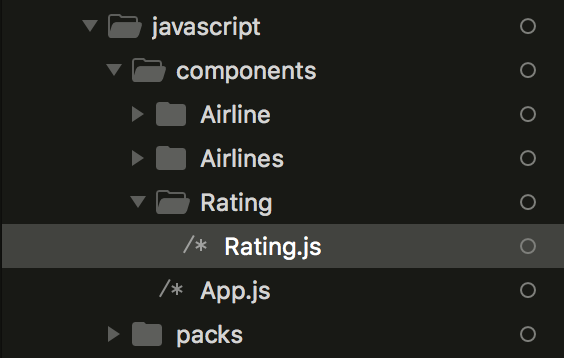 Rating Javascript Component Folder